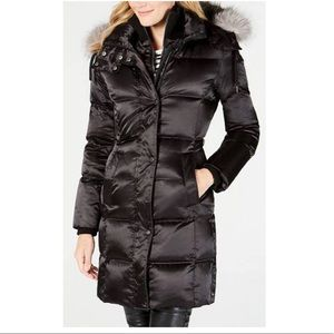 Andrew Marc long Hooded down coat